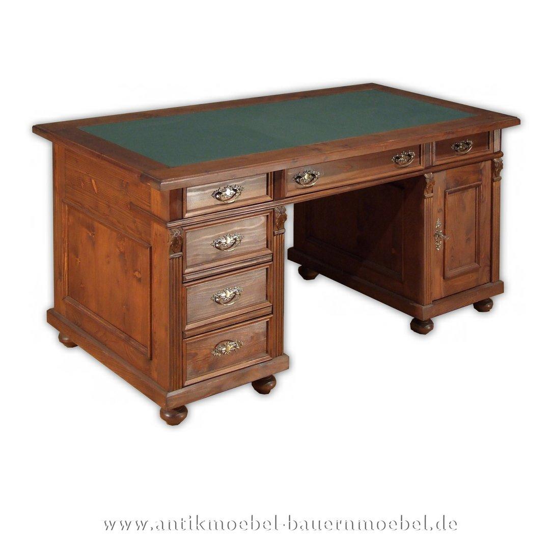Schreibtisch Massivholz Gründerzeit Landhausstil Bürotisch Pc