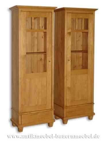 cab 23rb 1 stk schmale vitrine schmalschrank b cherschrank landhausstil country bohemia. Black Bedroom Furniture Sets. Home Design Ideas