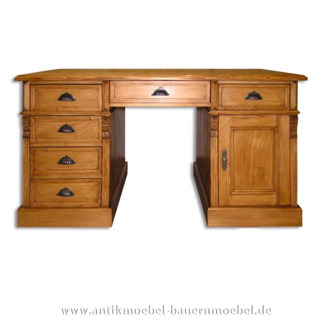 Schreibtisch Landhausmöbel Vollholz Massiv Gründerzeit Kinderschreibtisch  Bürotisch