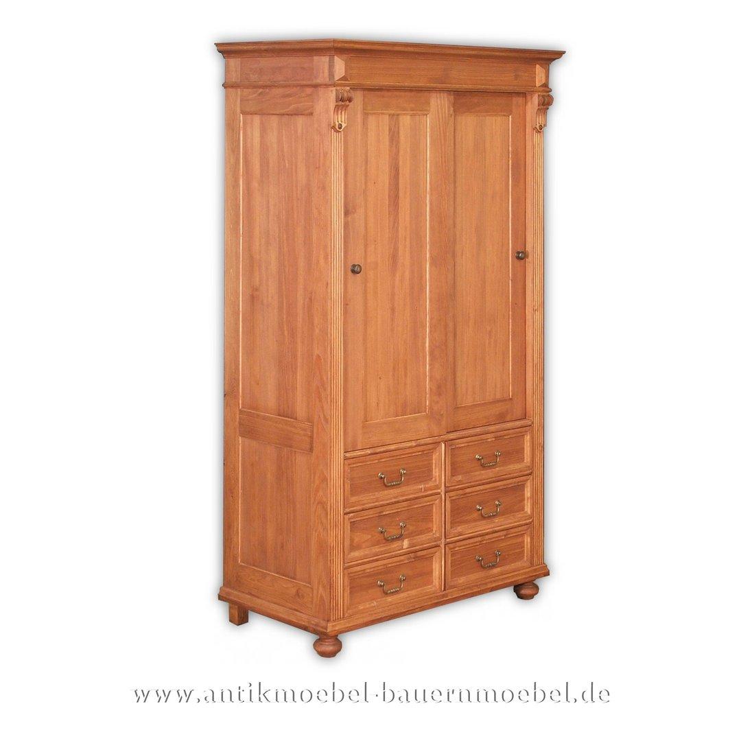 Kleiderschrank Wascheschrank Flurmobel Weichholz Landhausstil