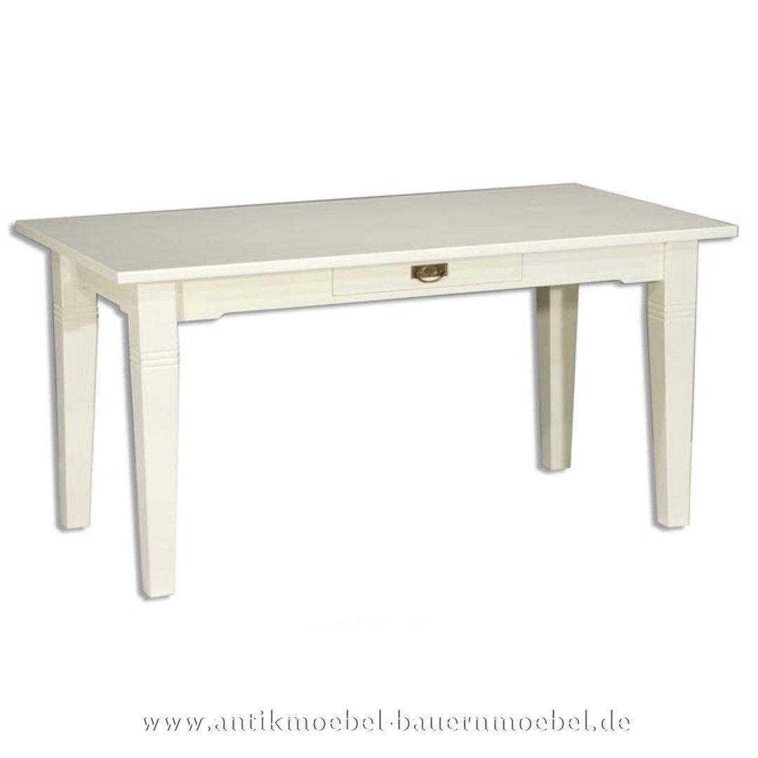 Esstisch Kulissentisch Holztisch Landhausstil Weiß