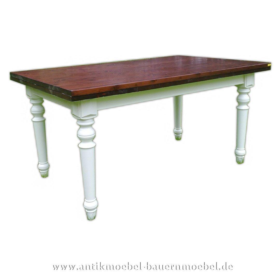 Esstisch Küchentisch Holztisch Weiß Landhausstil