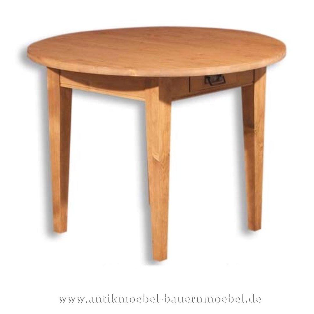 Esstisch rund landhaus  Esstisch Küchentisch Holztisch rund Massivholz Landhausstil Gründerzeit  Vollholz