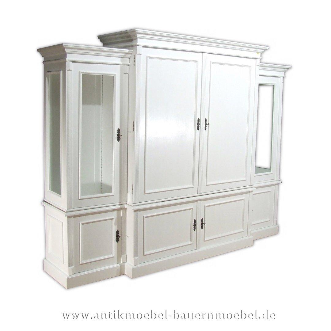 Details zu  Wohnzimmerschrank,Fernsehschrank,Anbauwand,Schrank,Weichholz,Landhausstil,  weiß