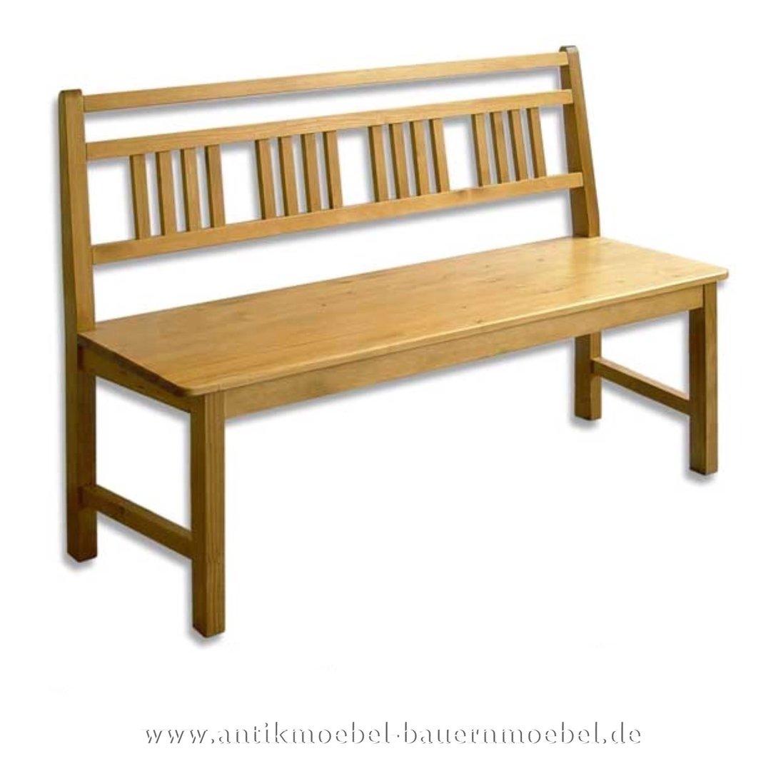 Sitzbank Massivholz 160cm Gartenbank Kuchenbank Holzbank Mit Lehne Landhausstil