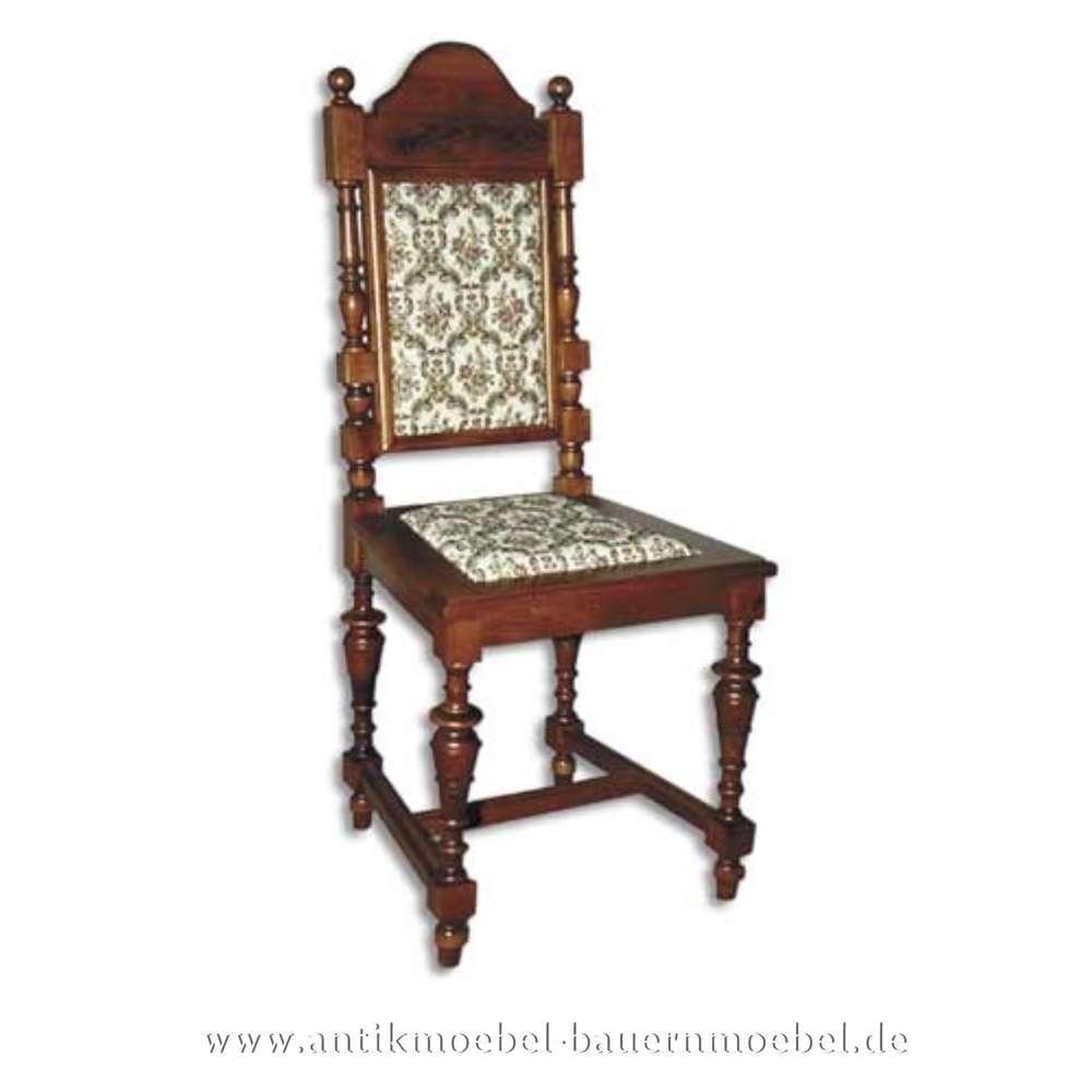 Gründerzeit dunkel Rückenlehne und Sessel Säulenbeine Sitzfläche Stuhl Buche in Polster b7gY6vfy