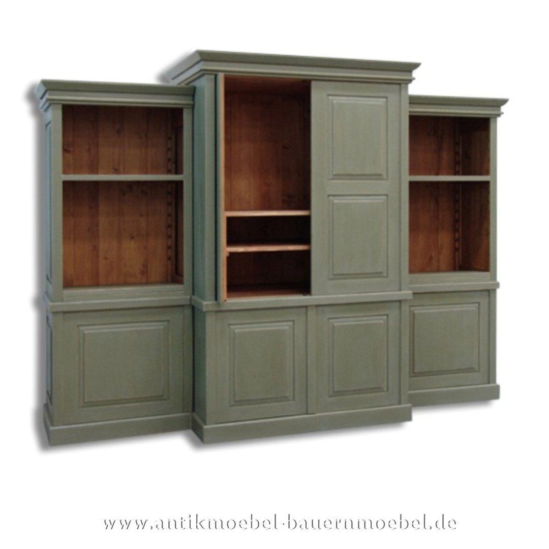 Details zu  Wohnzimmerschrank,Fernsehschrank,Anbauwand,Schrank,Landhausstil,Bauernmöbel,grün
