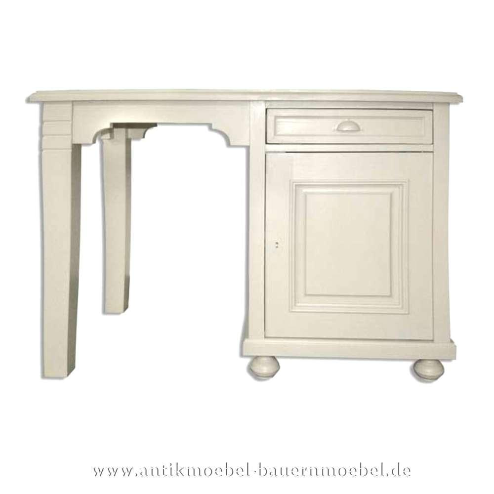 Schreibtisch weiß landhaus  Schreibtisch weiß Lackiert Landhausstil Massivholz Lackiert Bürotisch PC-  Arbeitstisch