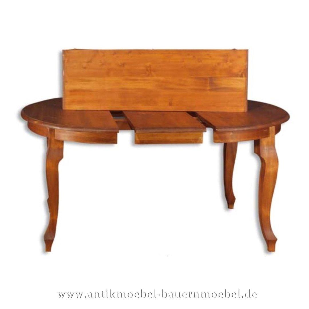 Details zu Esstisch,Küchentisch,Tisch,Speisetisch,Ausziehbar,Holz,Louis Phillip,Rund,Massiv