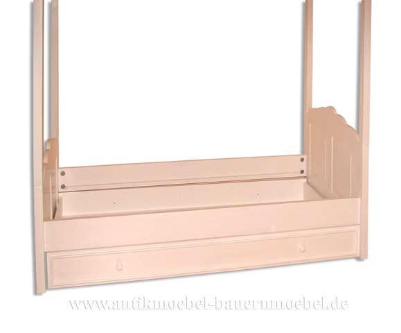 bett kinderbett himmelbett 90x200 massiv wei landhausstil. Black Bedroom Furniture Sets. Home Design Ideas
