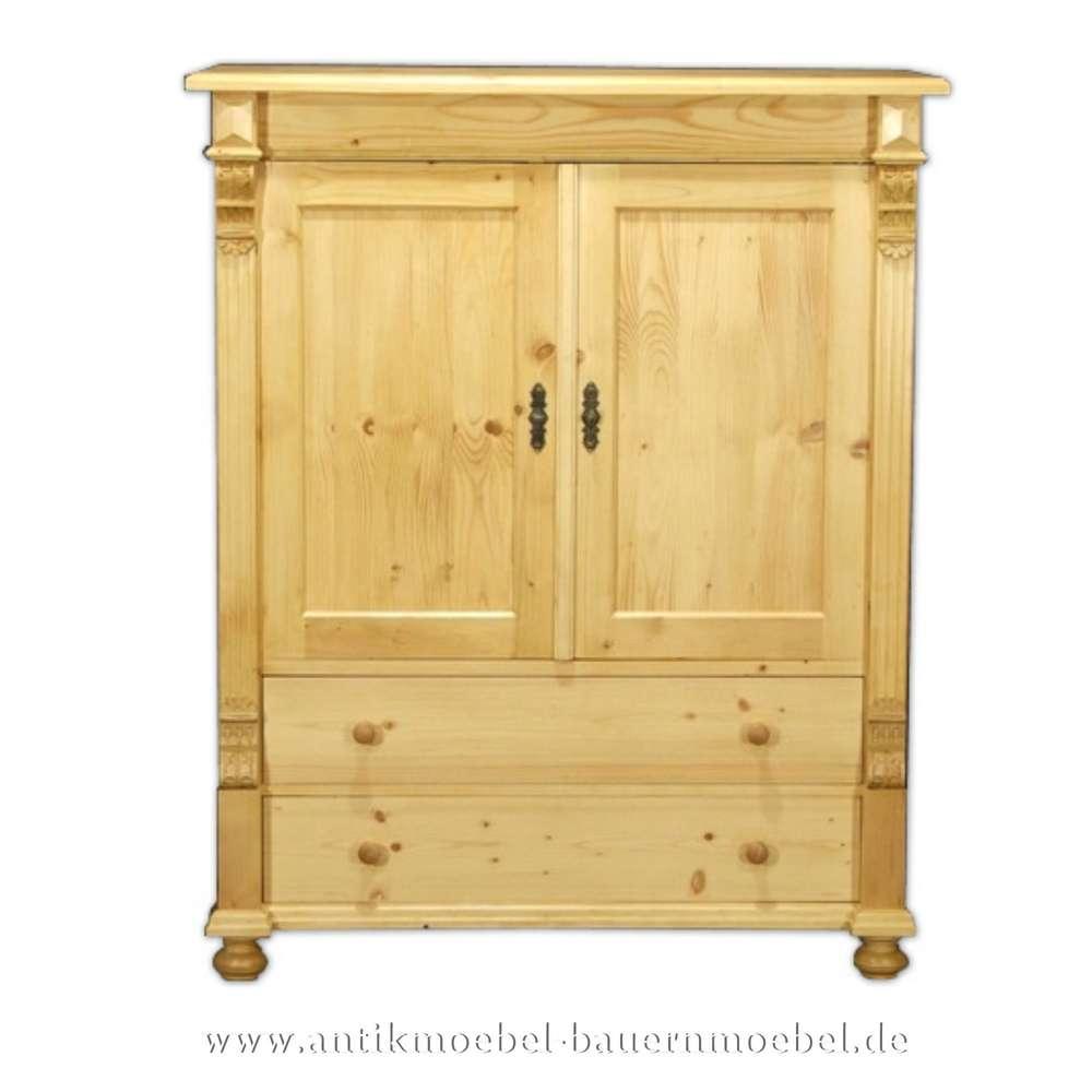 Tv Pc Schrank Holz Phonoschrank Tv Mobel Massivholz Hell Geschlossen Landhausstil