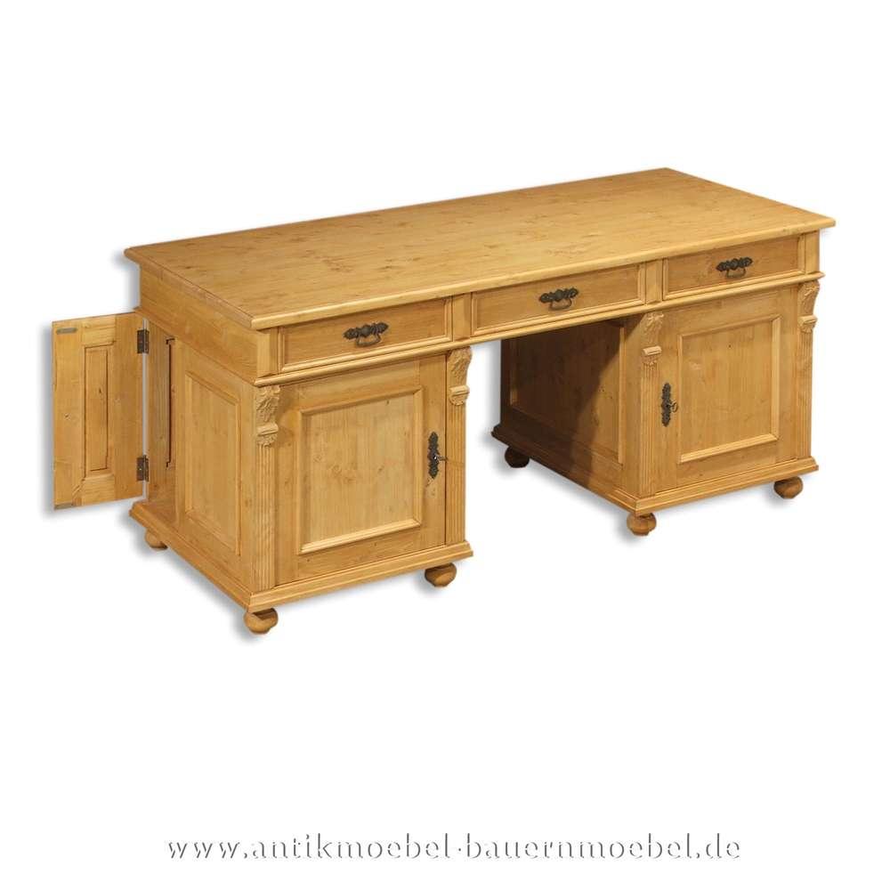Schreibtisch Bürotisch Pc Arbeitstisch Massivholz Naturton