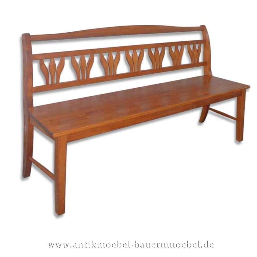 Sitzbank Gartenbank Kuchenbank Holzbank Mit Lehne Landhausstil