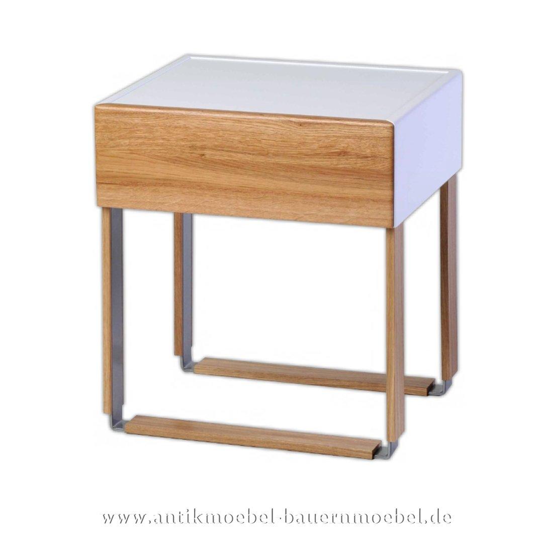 Nachttisch Konsolentisch Beistelltisch Eiche Massiv In Modernen Design Vollholz