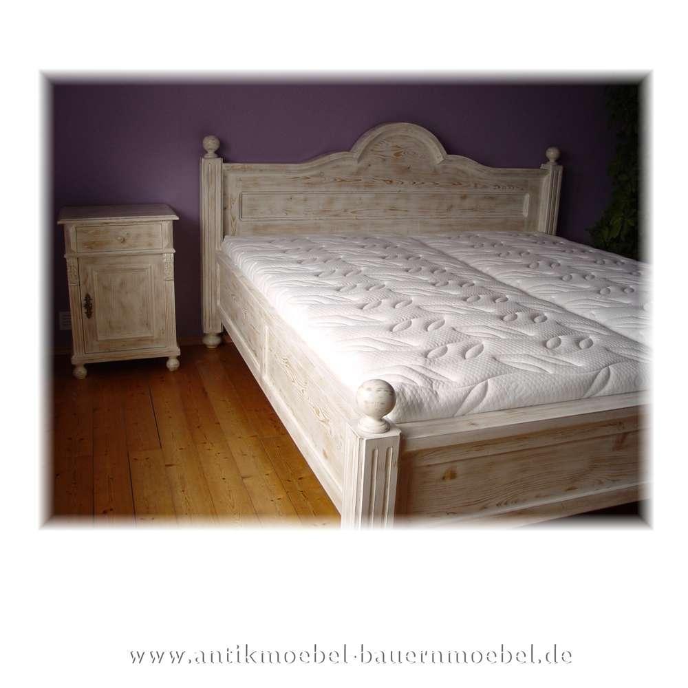Bett Doppelbett Wolkenbett 200x200 Weiß Landhausstil Shabby Chic